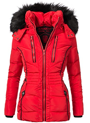navahoo damen jacke winterjacke steppjacke esma rot gr m. Black Bedroom Furniture Sets. Home Design Ideas