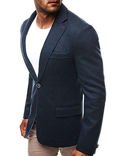 OZONEE Herren Sakko Business Anzug Anzugjacke Y-TWO 5108 DUNKELBLAU XL