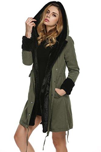 wintermantel damen mit pelz cravog warme casual luxus. Black Bedroom Furniture Sets. Home Design Ideas