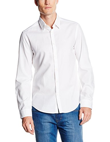 BOSS Green Herren Freizeithemd 50320135, Weiß (White 100), Large
