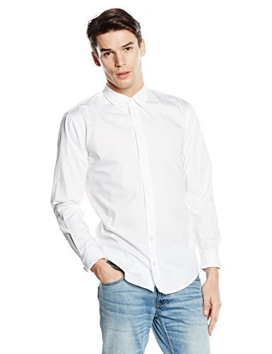BOSS Orange Herren Slim Fit Freizeit Hemd EdipoE, Gr. Medium, Weiß (White 100)