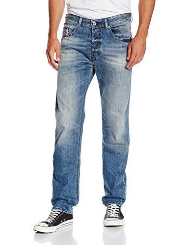 Diesel Herren Jeanshose Buster Pantaloni, Blau (01), W33/L34 (Herstellergröße: 33)