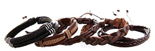 DonDon® Lederarmband SET 5 Armbänder