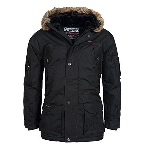 Geographical Norway Atlas Herren Winter Jacke Parka Parker Schwarz Gr. XL