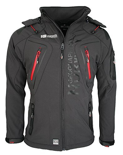 3D2 Geographical Norway Tambour Herren Softshell Jacke Outdoor Dunkelgrau S
