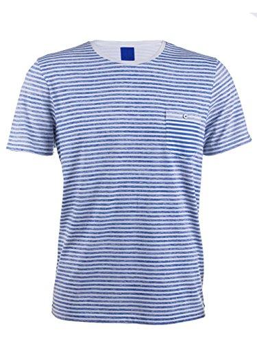 JOOP! Herren T-Shirt Tillo-M 15002331 mit Rundhals-Ausschnitt, Größe:L;Farbe:blau (126)
