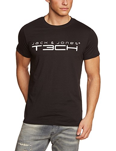 Jack & Jones Tech Herren T-shirt JJT Foam New Tee Short Sleeves Crew Neck Noos, Schwarz(Black), XL, 12091568