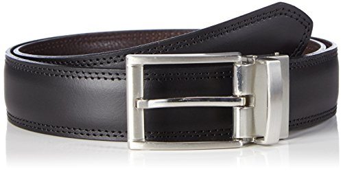 MLT Belts & Accessoires Herren Wende-Gürtel Milano, Gr. 110 cm, Mehrfarbig (Black Brown 1043)