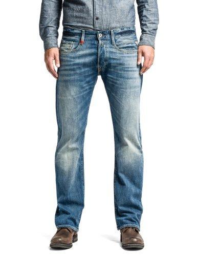 Replay Herren Boot-Cut Jeans Billstrong, Blau (Blue Denim), 31W / 32L