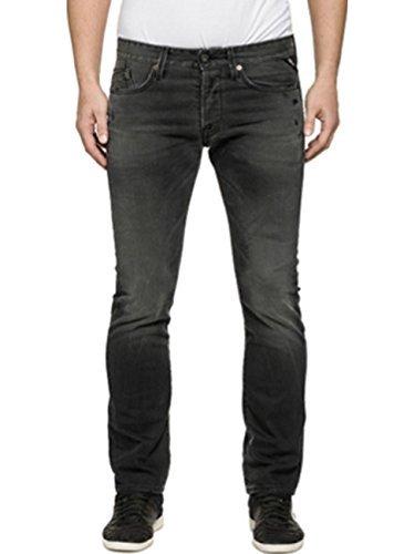 Replay Herren Jeans Waitom Regular Fit - Slim Leg - Schwarz - Black Denim, Größe:W 31 L 36;Farbe:Black Denim (009)