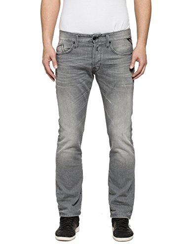 Replay Herren Jeanshose Waitom, Grau (Grey Denim 9), W32/L32 (Herstellergröße: 32)