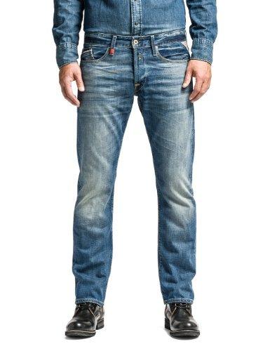Replay Herren Regular Slim Leg Jeans Waitom, Blau (Blue Denim 009), W33/L32 (Herstellergröße: 33)