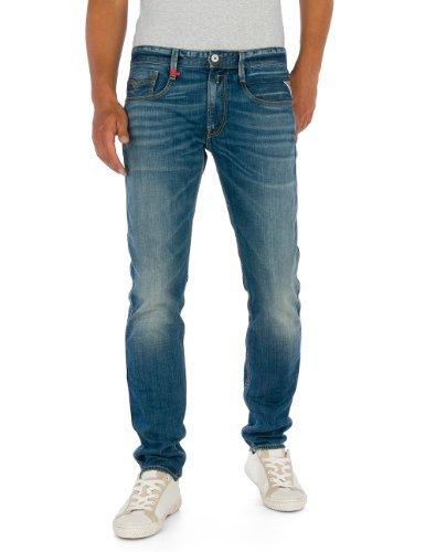 Replay Herren Slim Fit Jeanshose Anbass, Gr. W36/L34 (Herstellergröße: 36), blau (Blue Denim 9)
