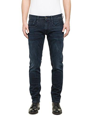 Replay Herren Slim Jeanshose Anbass, Gr. W33/L32 (Herstellergröße: 33), Blau (Blue Denim 7)