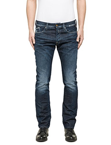 Replay Herren Straight Leg Jeanshose M983 .000.118 640 Gr. W32/ L34 (Herstellergröße: 32) Blau (Blue Denim 9)