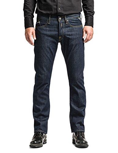 Replay Herren Straight Leg Jeanshose M983U .000.118 07D, Blau (7), W32/L32 (Herstellergröße: 32)