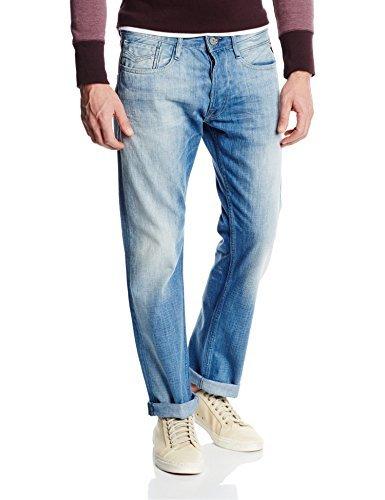 Replay Herren Straight Leg Jeanshose NEWBILL, Comfort Fit, Blau (Blue Denim 010), Gr. W32/L34