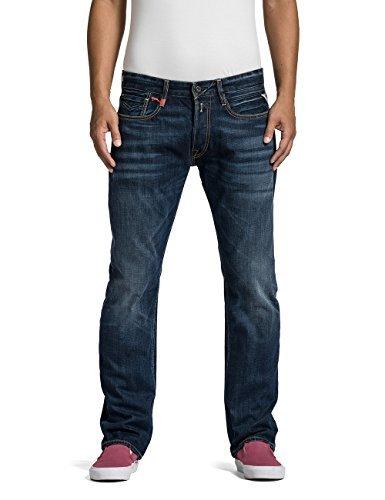 Replay Herren Straight Leg Jeanshose NEWBILL,Blau (Blue Denim 009),W34/L34