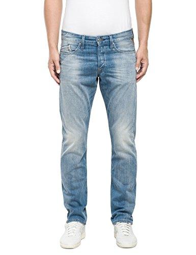 Replay Herren Straight Leg Jeanshose WAITOM, Gr. W33/L34 (Herstellergröße: 33), Blau (Blue Denim 10)
