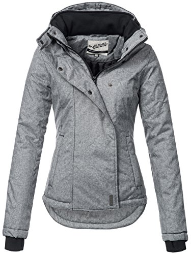Sublevel Sportliche Damen Winter Jacke 46550D in Dunkelgrau Gr. M