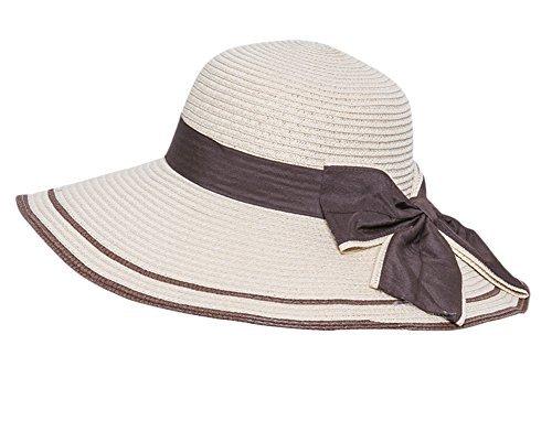 Butterme Damen Foldable Sonnenhut Mode Sommer Bowknot Beach Sun Hats Wide Brim Strohhut Strand Hut Mütze Damenhut
