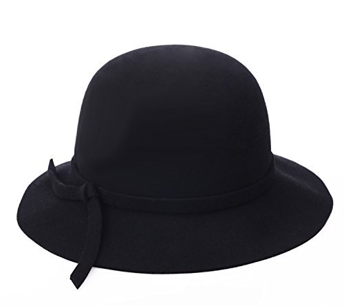 Damen Cloche Bucket Hat Runde Mützen Winter Mütze