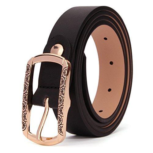 XIANGUO Damen Ledergürtel mit Schnalle Fashion Taille Ledergürtel der neuen Art-Ledergürtel in Schwarz und Rot