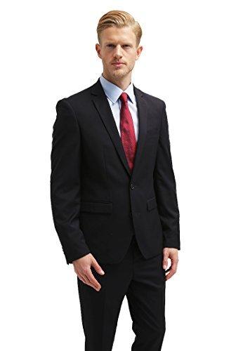 anzug herren slim fit blau schwarz grau pier one business herrenanzug gr e 46 54. Black Bedroom Furniture Sets. Home Design Ideas