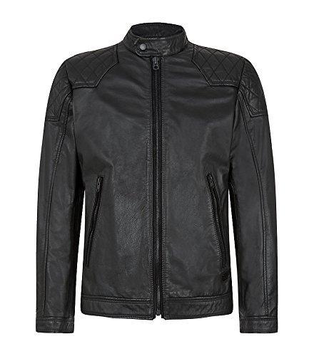 Diesel Laleta 900 Herren Leather Jacket Schwarz