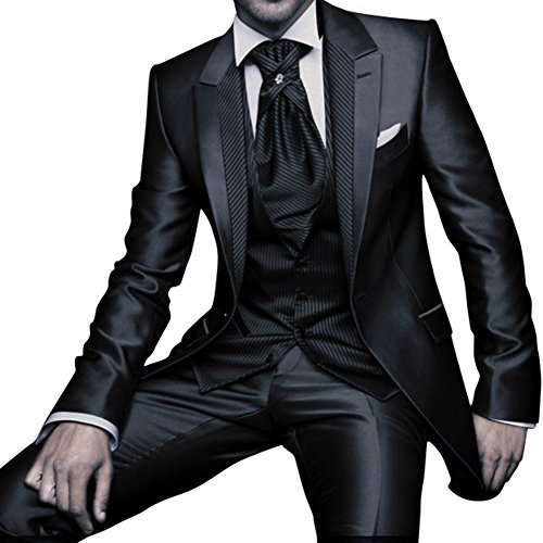 GEORGE Herren Anzug Tuxedos Smokingsakko Anzuege 3-Teilig Anzug Sakko,Anzug Hose,Weste 153
