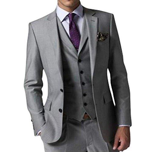 GEORGE Herren Anzug Tuxedos Smokingsakko Anzuege 3-Teilig Anzug Sakko,Anzug Hose,Weste 154