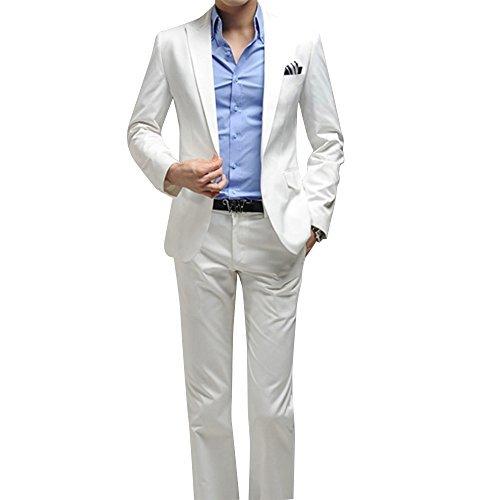 Herren Anzug 2 Teilig Sakko und Hose Slim Fit Business Casual