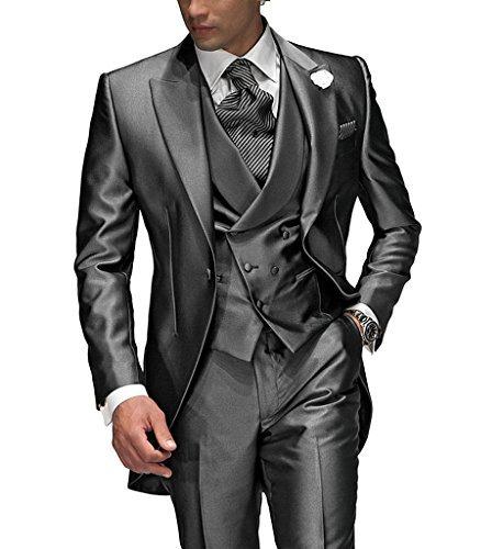 Suit Me Tailored Herren 3-Teilig Anzug Fuer Hochzeiten Party Smoking Anzug Sakko,Weste,Hose