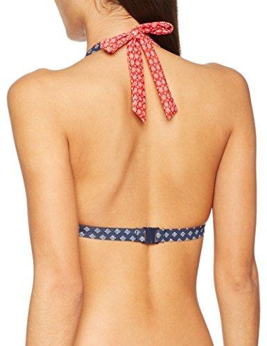 ESPRIT Bodywear Damen Bikinioberteil Orlando Beach Halterneck Pad, Blau (Navy 400), 40C (Herstellergröße: 40 C)