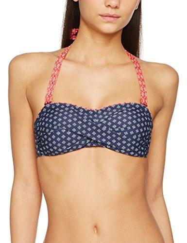 ESPRIT Bodywear Damen Bikinioberteil Orlando Beach Bandeau Padded, Blau (Navy 400), 38