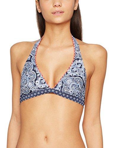 ESPRIT Bodywear Damen Bikinioberteil Rocky Beach Pad.Halterneck, Blau (Navy 400), 36B (Herstellergröße: 36 B)