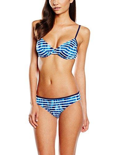 ESPRIT Treton Beach Damen Bikini set Underwire + Midi, Blau (Navy 400), 40 (Herstellergröße: 40 C)