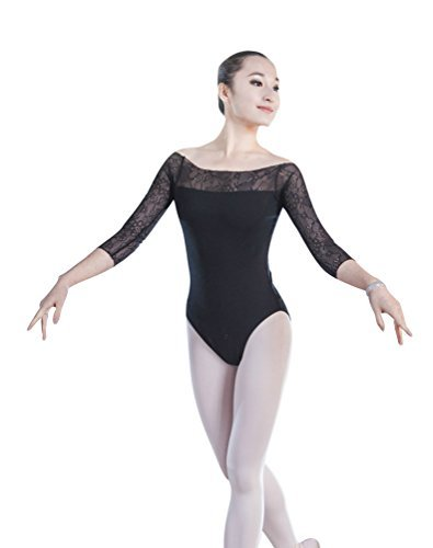 ZKOO Damen Body Einteiler Bodysuit Jumpsuits Gymnastikanzug Top Dancewear