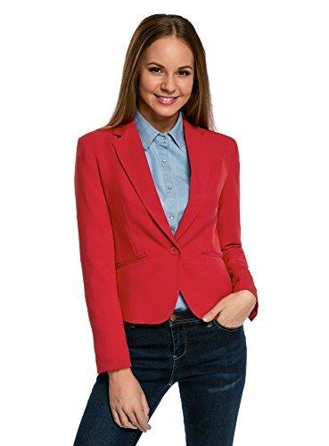 oodji Ultra Damen Taillierter Blazer Basic
