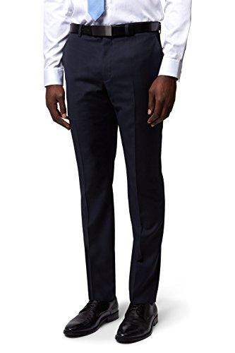 DKNY Marineblau Textured Anzug Hose
