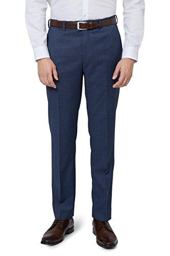 DKNY Slim Fit Blau Pinhead Anzug Hose