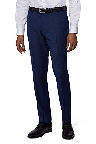 DKNY Slim Fit Blau Texture Anzug Hose