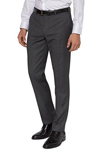 DKNY Slim Fit Grau Birdseye Anzug Hose