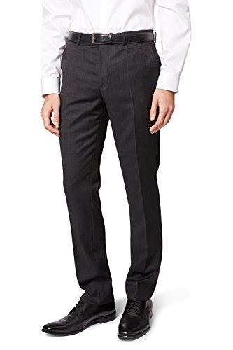 DKNY Slim Fit Grau Textured Anzug Hose