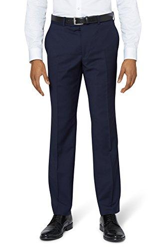 DKNY Slim Fit Panama Blau Anzug Hose