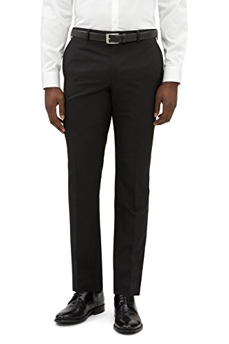 DKNY Slim Fit Schwarz Smoking Anzug Hose