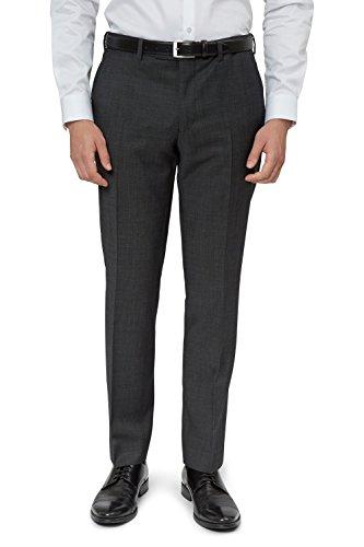 DKNY Slim Fit Schwarz & Weiß Pindot Anzug Hose