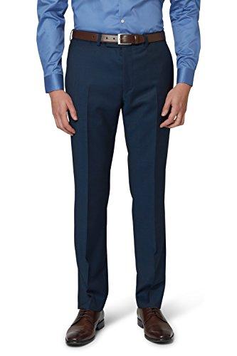 DKNY Slim Fit Teal Twill Anzug Hose