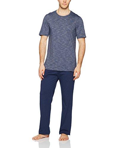 Marc O'Polo Body & Beach Herren Zweiteiliger Schlafanzug Pyjama Lang mit Kurzarm Ot