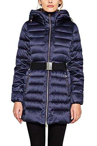 ESPRIT Collection Damen Mantel 097EO1G002, Blau (Navy 400), Small